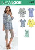 6027 New Look Pattern: Misses' Tunic or Tops